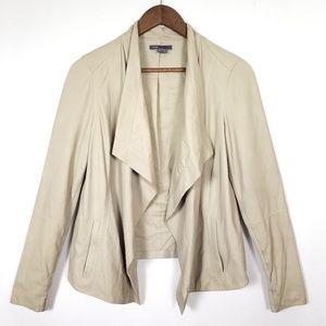 Vince Jackets & Coats - Vince Drape-Front Open Leather Jacket